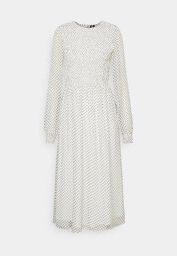 Vero Moda Tall - VMSIFFY O NECK SMOCK CALF DRESS - Vestido informal - snow white/black