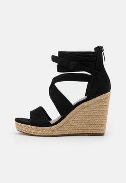 Tamaris - Korolliset sandaalit - black