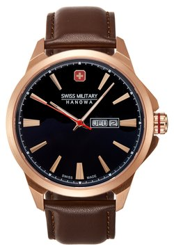 Swiss Military Hanowa - DAY DATE CLASSIC - Montre - dark blue/brown