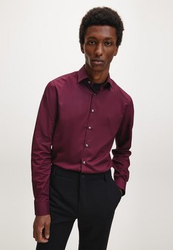 Calvin Klein - SLIM POPLIN STRETCH  - Businesshemd - winetasting