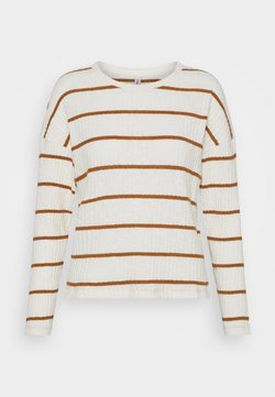 ONLY - ONLCARLA TOP - Strickpullover - cloud dancer/toasted coconut