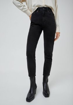 PULL&BEAR - MOM - Jeans slim fit - black