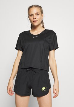 Nike Performance - CITY SLEEK - T-shirt basic - black/white
