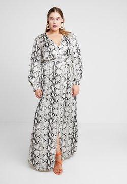 Missguided Plus - PLUNGE SNAKE PRINT DRESS - Robe longue - grey