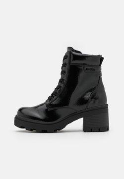 TOM TAILOR DENIM - Enkellaarsjes met plateauzool - black