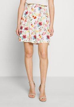 NA-KD - ELASTIC WAIST FLOWY MINI SKIRT - A-line skirt - white/multicolor