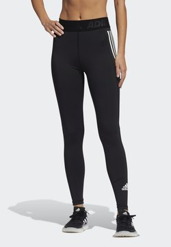 adidas Performance - TECHFIT 3-STRIPES LONG TIGHTS - Tights - black/white