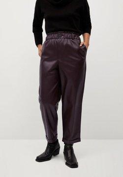 Violeta by Mango - SKULL - Pantalon classique - donkerrood