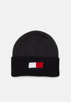 Tommy Hilfiger - BIG FLAG BEANIE - Beanie - dark ash