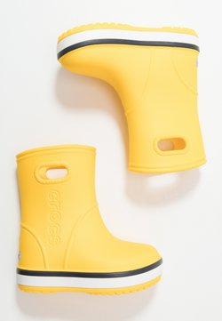 Crocs - CROCBAND RAIN BOOT - Kumisaappaat - yellow/navy