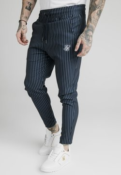 SIKSILK - SMART JOGGER PANT - Stoffhose - navy/grey