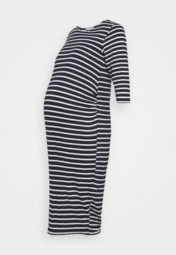 Dorothy Perkins Maternity - STRIPE DRESS - Vestido ligero - navy