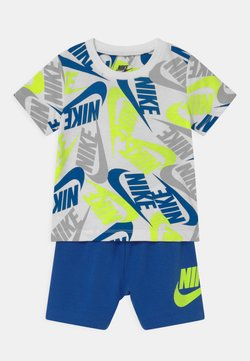Nike Sportswear - FUTURA SET - Pantalones deportivos - blue/neon green