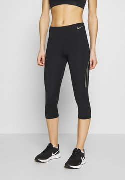 Nike Performance - SPEED CAPRI MATTE - Pantalón 3/4 de deporte - black/gunsmoke