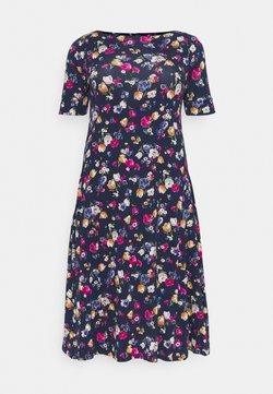 Lauren Ralph Lauren Woman - MUNZIE CASUAL DRESS - Jerseykleid - lauren navy/multi