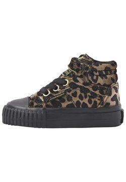 British Knights - Sneakers hoog - rust leopard/gold/black