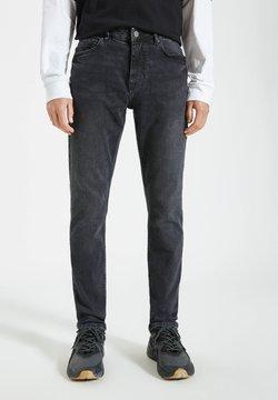PULL&BEAR - Jean slim - black denim