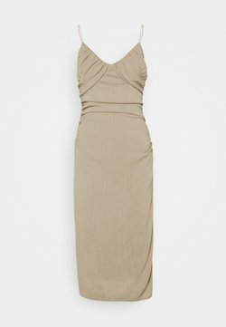 Nly by Nelly - BE MINE RUCHED DRESS - Robe de soirée - beige