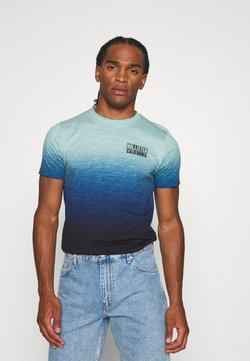 Hollister Co. - OMBRE LOGO - Print T-shirt - teal to navy ombre