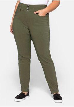 Sheego - HOSE - Pantalon classique - dark khaki
