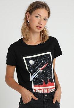 Merchcode - LADIES ROAD TO SPACE BOX TEE - Camiseta estampada - black