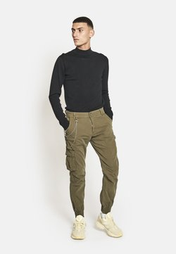 Redefined Rebel - Cargo trousers - dark olive