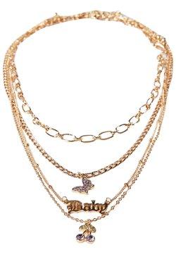 Bershka - 4ER-SET  - Halsband - gold coloured