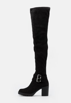 ONLY SHOES - ONLBARBARA LIFE BUCKLED  - Over-the-knee boots - black