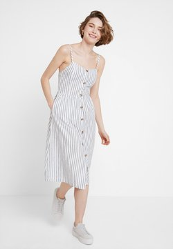 ONLY - ONLLUNA STRAP STRIPE DRESS - Blusenkleid - white