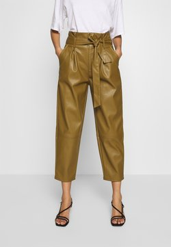 Who What Wear - TIE TROUSERS - Pantaloni - army