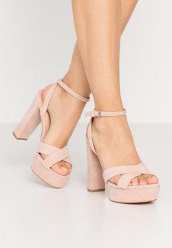 Even&Odd Wide Fit - LEATHER - Korolliset sandaalit - nude