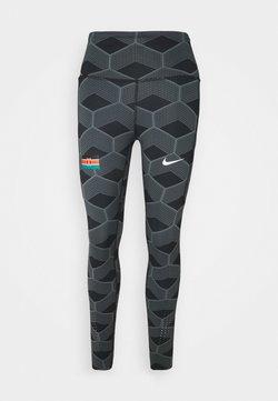 Nike Performance - KENYA EPIC LUX - Tights - iron grey/reflect white