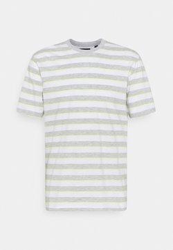 Only & Sons - ONSVIGGO LIFE STRIPED TEE - T-Shirt print - light grey melange
