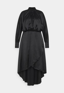 Missguided Plus - PLUS HI NECK LOW WRAP DRESS - Cocktailkleid/festliches Kleid - black