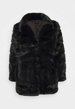 CAPSULE by Simply Be - STEPPED COAT - Classic coat - black