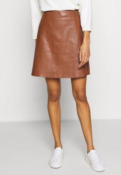 Cream - TARACR SKIRT - Mini skirt - cognac