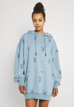 Missguided - PLAYBOY HOODY DRESS - Vapaa-ajan mekko - grey