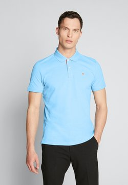 TOM TAILOR - BASIC WITH CONTRAST - Polo - soft cloud blue
