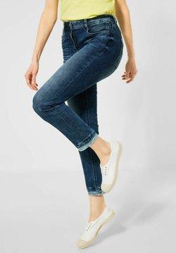 Cecil - MIT STREIFEN-DETAIL - Jeans Slim Fit - blau