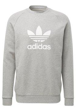 adidas Originals - TREFOIL CREW UNISEX - Bluza - medium grey heather