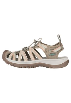 Keen - WHISPER - Walking sandals - taupe/coral