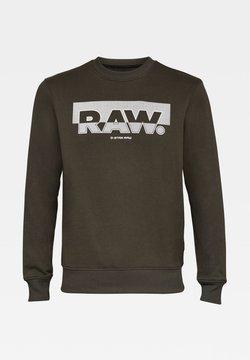 G-Star - RAW BLOCK RASTER ROUND LONG SLEEVE - Sweatshirt - asfalt