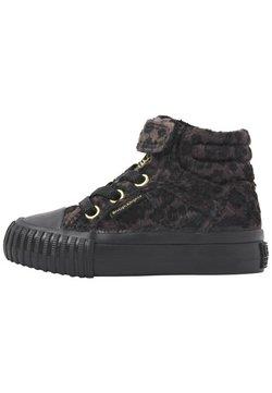 British Knights - Sneakers hoog - dk grey leopard/gold/black