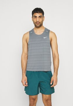 Nike Performance - MILER TANK - Camiseta de deporte - smoke grey/silver