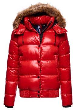 Superdry - HIGH SHINE TOYA - Winterjacke - rouge red