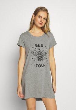 Hunkemöller - NIGHTIE BEE - Nachthemd - mid grey
