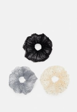 Pieces - PCSARIA SCRUNCHIE 3 PACK - Hair Styling Accessory - black/grey