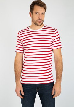 Armor lux - MORGAT MARINIÈRE - T-Shirt print - blanc/braise