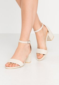 Nly by Nelly - LOW BLOCK  - Sandaletter - beige