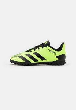 adidas Performance - PREDATOR 20.4 FOOTBALL BOOTS TURF UNISEX - Fußballschuh Multinocken - signal green/core black